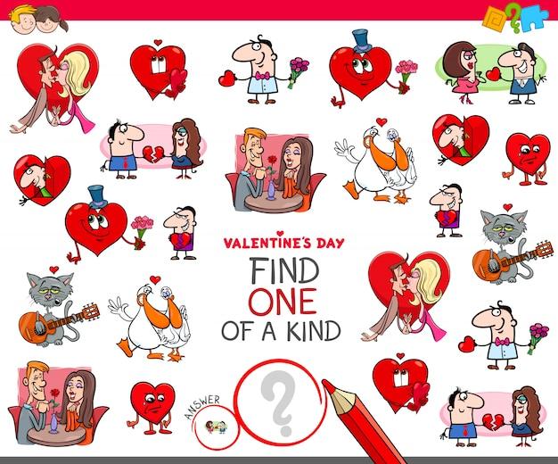 Zoek een van een soort valentines cartoon