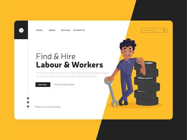 Zoek en huur de bestemmingspagina voor arbeidskrachten en werknemers