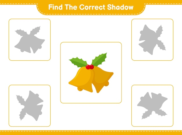 Zoek en match de juiste schaduw van christmas bell
