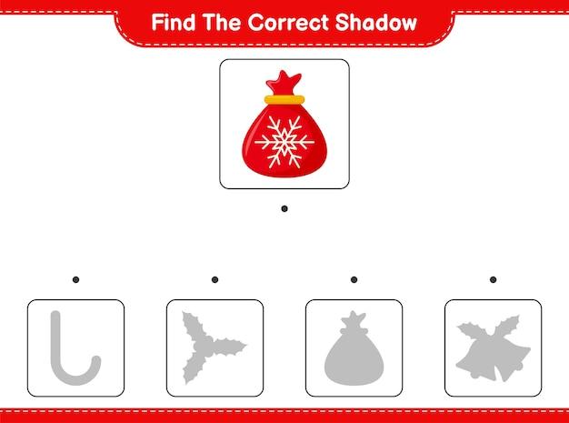 Zoek en match de juiste schaduw van santa claus bag