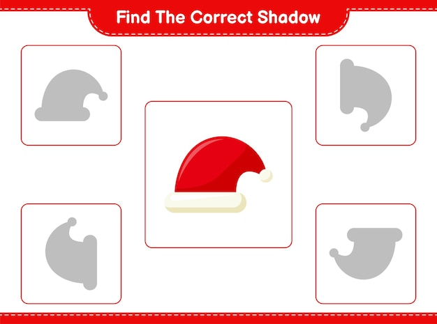 Zoek en match de juiste schaduw van santa hat