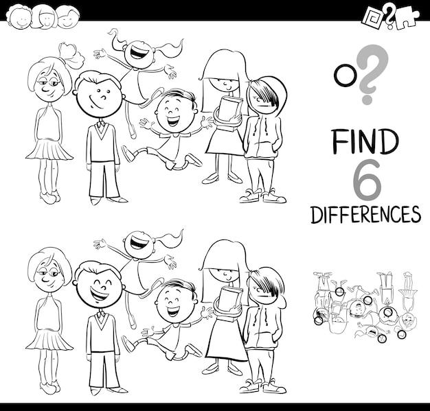 Zoek het verschil kleurboek