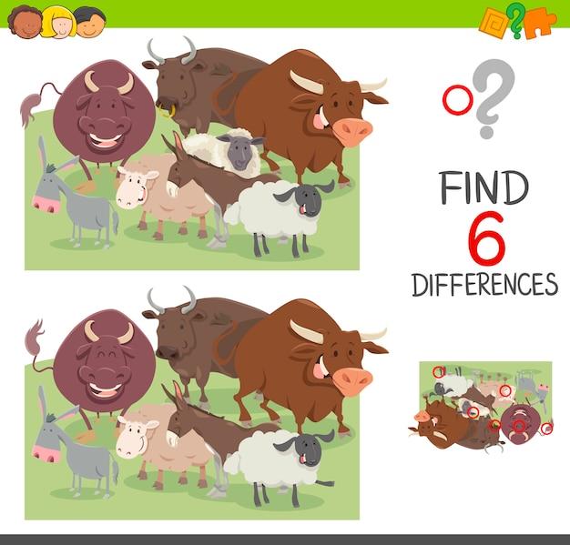 Zoek het verschillen-werkblad