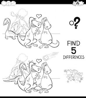 Zoek kleurboek voor verschillen in gameactiviteit