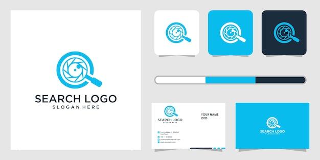 Zoek logo ontwerp en sjabloon voor visitekaartjes