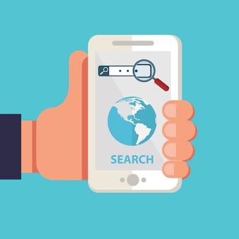 Zoek mobiele applicatie-ontwikkeling