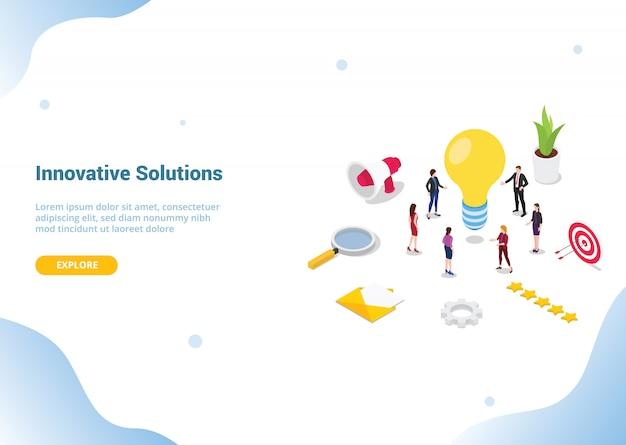 Zoek of vind ideeën of oplossingsconcept voor het landen van een websitesjabloon of startpagina