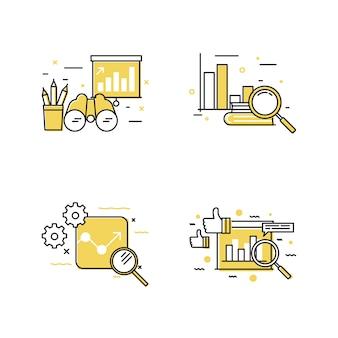 Zoek pictogram set ontwerp