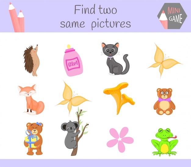 Zoek twee dezelfde afbeeldingen