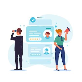 Zoeken in curriculum vitae-documenten voor werknemers