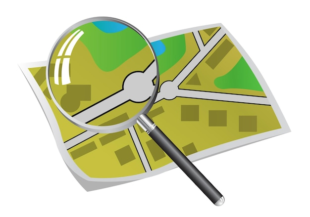 Zoeken in stadsplattegrond