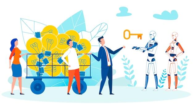 Zoeken naar het concept van de idee-implementatie