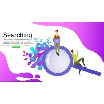 Zoekmachine analytics achtergrond sjabloon