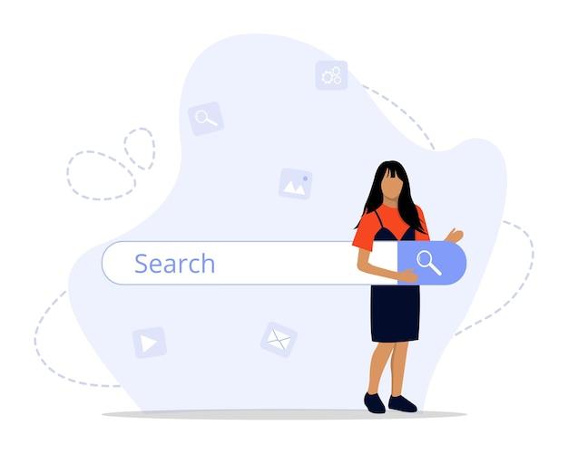 Zoekmachine concept illustratie