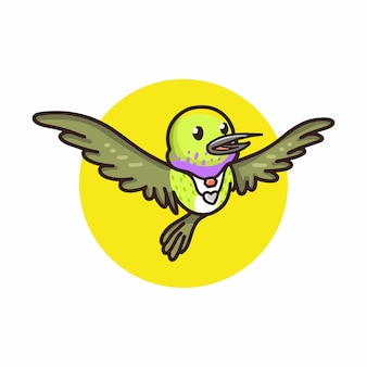 Zoemende vogel cartoon