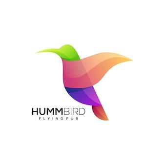 Zoemende vogel logo sjabloon