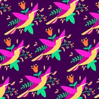 Zoemende vogel patroon