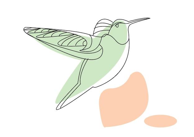 Zoemende vogelkunst of zoemende vogellijntekeningen