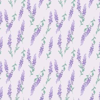 Zoet lavendel naadloos patroon.