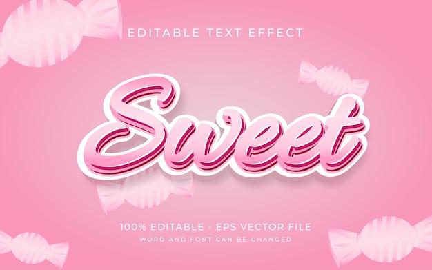 Zoet roze snoep teksteffect stijl bewerkbaar lettertype teksteffect