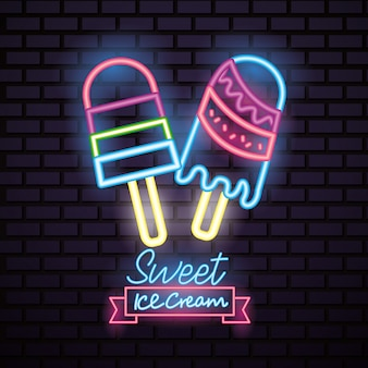 Zoet snoep neon