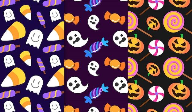Zoet snoepje halloween patroon