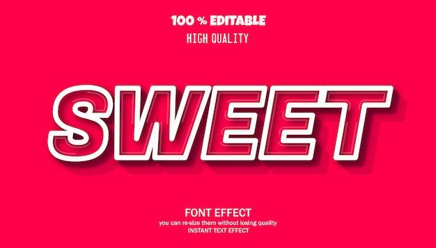 Zoet teksteffect bewerkbaar lettertype