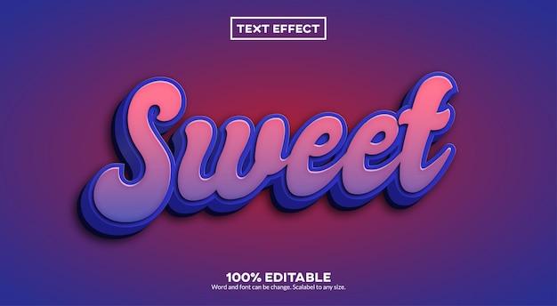 Zoet teksteffect