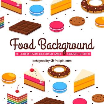 Zoet voedsel achtergrond