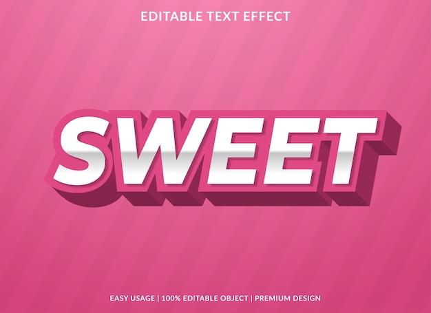 Zoete 3d-teksteffect sjabloon