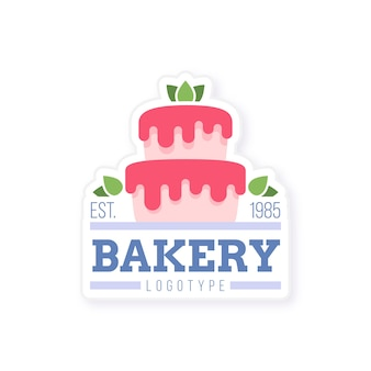 Zoete bakkerij cake-logo