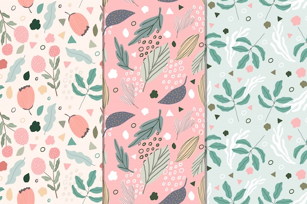 Zoete bloemen abstracte naadloze patrooninzameling