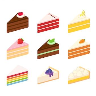 Zoete cakes ingesteld