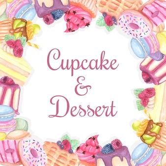 Zoete dessertachtergrond