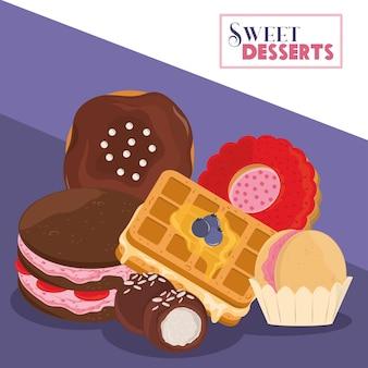 Zoete dessertchocolade