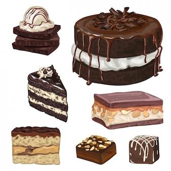 Zoete desserts ontwerp