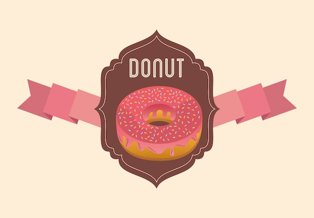 Zoete donuts badge