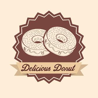 Zoete donuts label