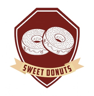 Zoete donuts label