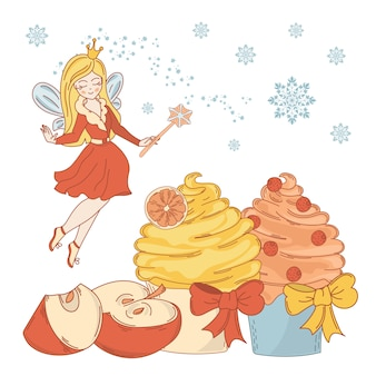 Zoete fee vrolijke kerstmis