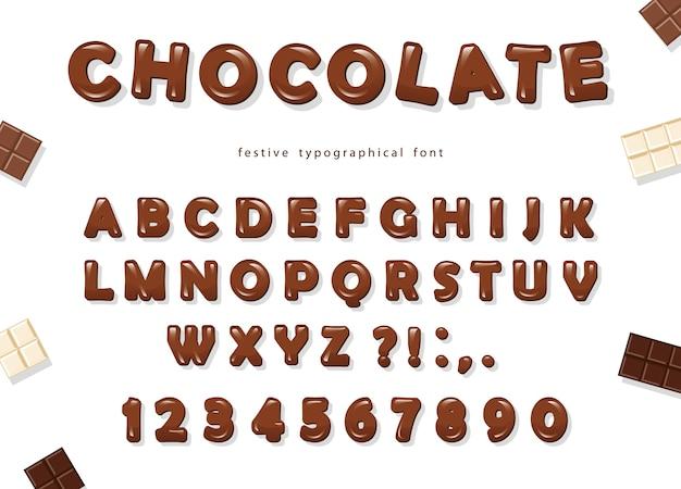 Zoete glanzende abc-letters en cijfers