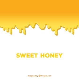 Zoete honing druppelt