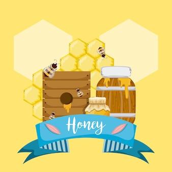 Zoete honingkaart