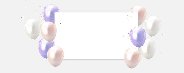 Zoete kleur ballonnen frame