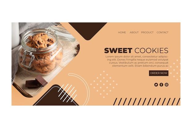 Zoete koekjes bestemmingspagina
