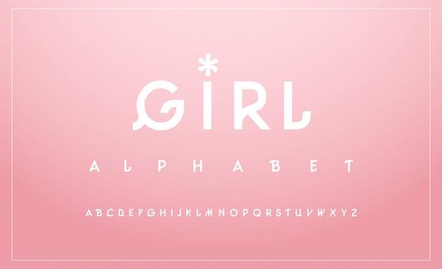 Zoete lettertype in hoofdletters. typografie klassieker