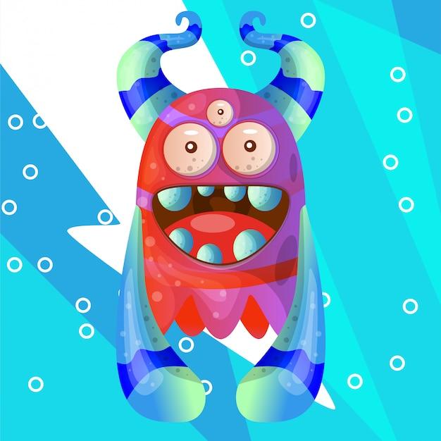 Zoete monster illustratie vector