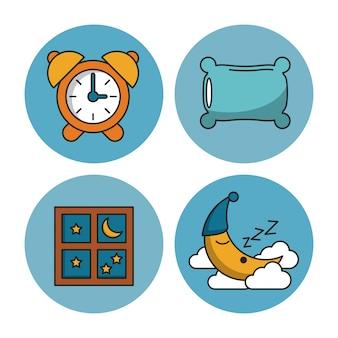 Zoete slaappictogrammen