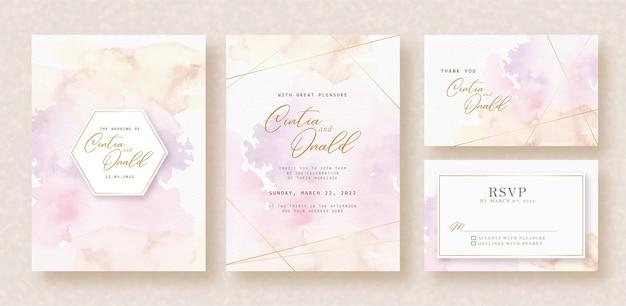 Zoete splash kleuren achtergrond op uitnodigingskaart