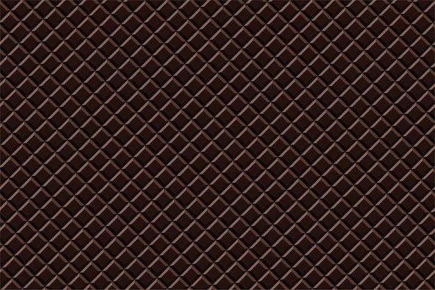 Zoete textuur van het zwarte chocolade de naadloze patroon